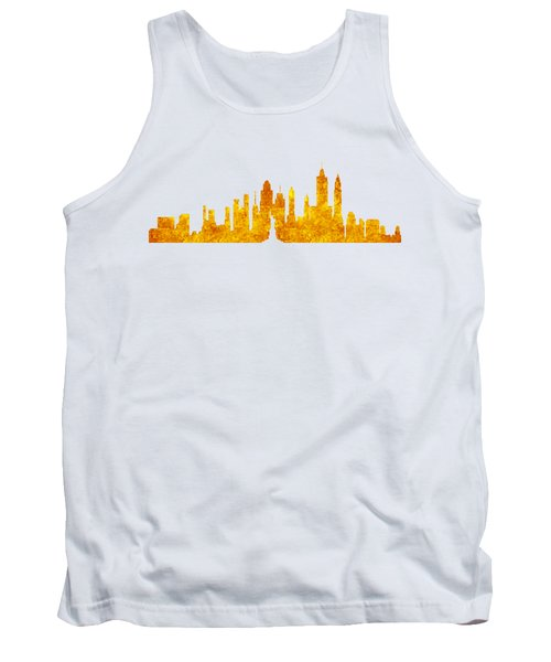 New York, Golden City Tank Top by Anton Kalinichev