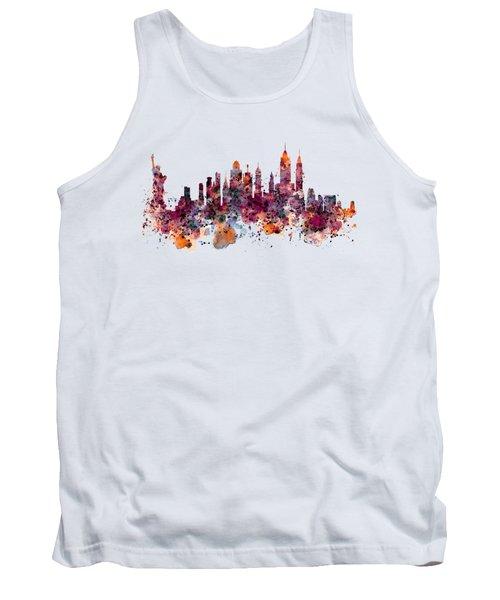 New York Skyline Watercolor Tank Top