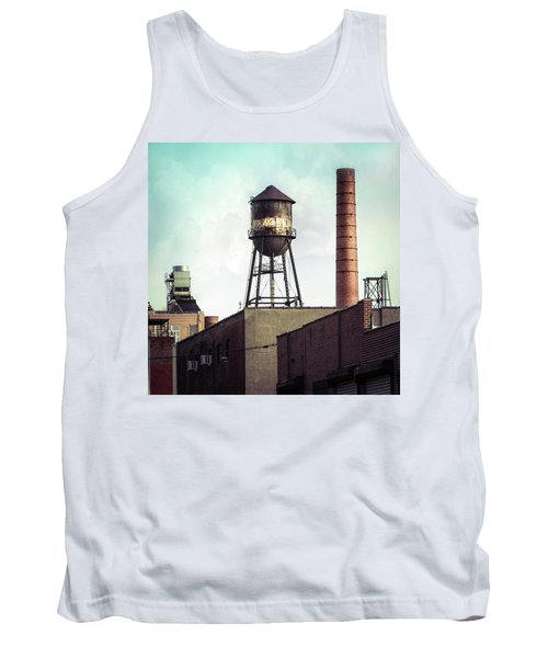 Tank Top featuring the photograph New York Water Towers 19 - Urban Industrial Art Photography by Gary Heller