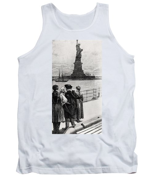 New York  Welcome To The Land Of Freedom Tank Top