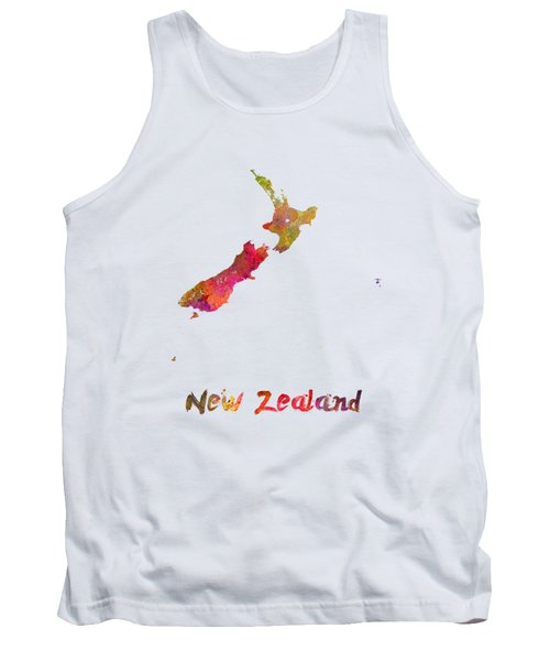 New Zealand In Watercolor Tank Top by Pablo Romero