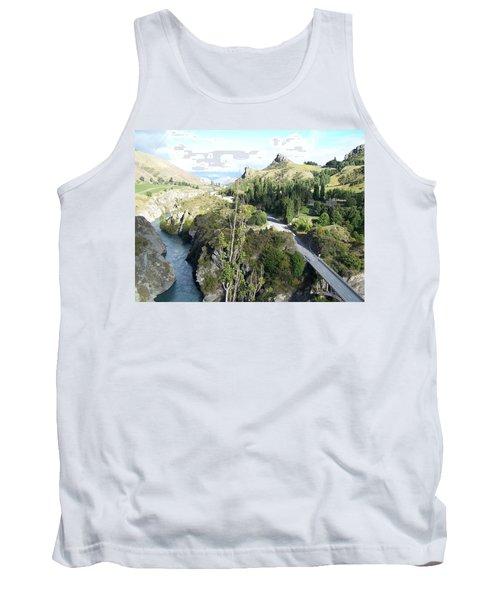 Tank Top featuring the photograph New Zealand Scene by Constance DRESCHER