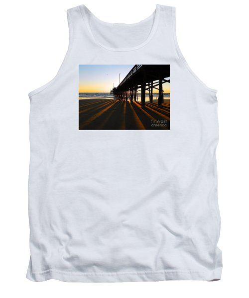Tank Top featuring the photograph Newport Pier, Newport Beach   by Everette McMahan jr