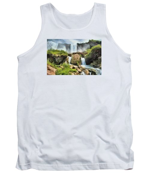 Niagara Falls Cave Of The Winds Tank Top by Charmaine Zoe