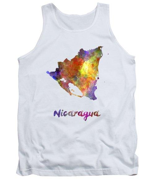Nicaragua In Watercolor Tank Top