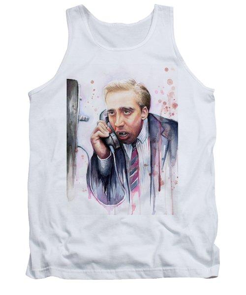 Nicolas Cage A Vampire's Kiss Watercolor Art Tank Top