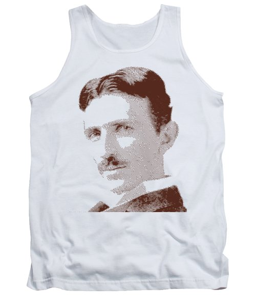 Nikola Tesla - Parallel Hatching Tank Top