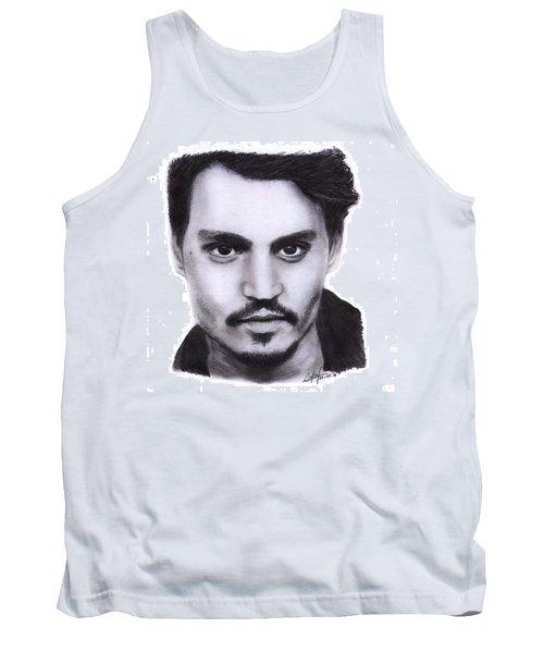 Johnny Depp Drawing By Sofia Furniel Tank Top