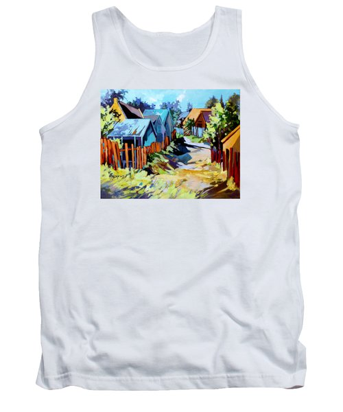 Tank Top featuring the painting No Through Road by Rae Andrews