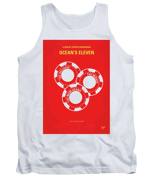 No056 My Oceans 11 Minimal Movie Poster Tank Top