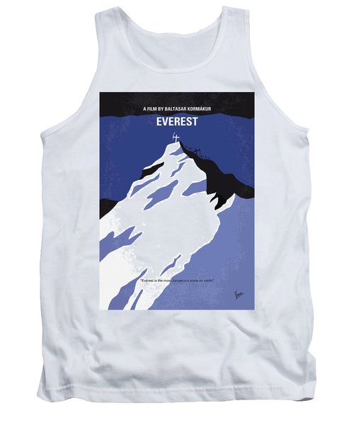No492 My Everest Minimal Movie Poster Tank Top