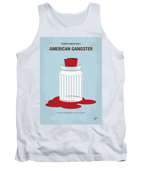 Tank Top featuring the digital art No748 My American Gangster Minimal Movie Poster by Chungkong Art