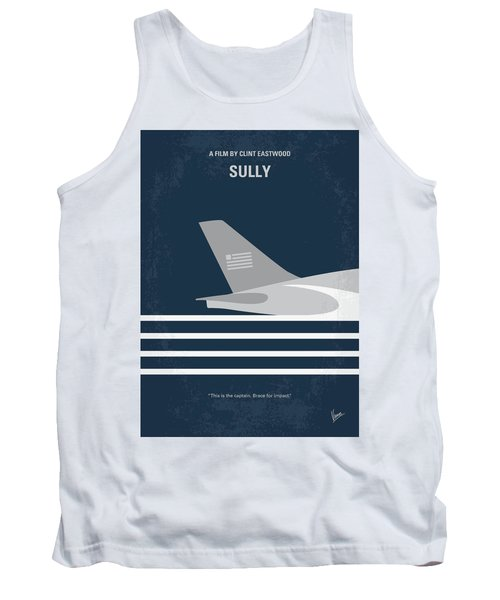 Tank Top featuring the digital art No754 My Sully Minimal Movie Poster by Chungkong Art