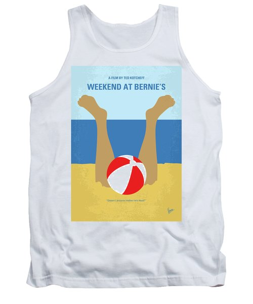 Tank Top featuring the digital art No765 My Weekend At Bernies Minimal Movie Poster by Chungkong Art