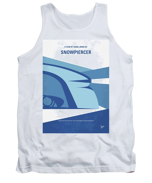 Tank Top featuring the digital art No767 My Snowpiercer Minimal Movie Poster by Chungkong Art