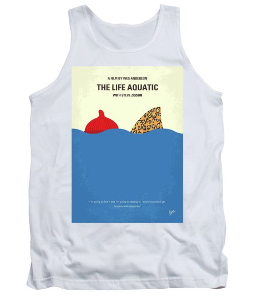 Tank Top featuring the digital art No774 My The Life Aquatic With Steve Zissou Minimal Movie Poster by Chungkong Art