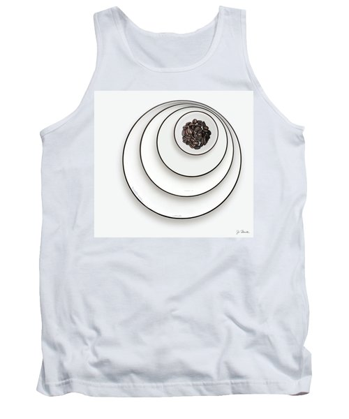 Tank Top featuring the photograph Nonconcentric Dishware And Coffee by Joe Bonita