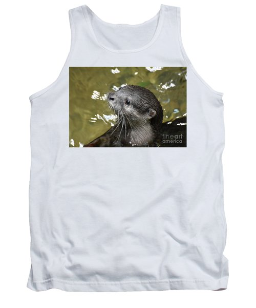 North American River Otter Swimming In A River Tank Top