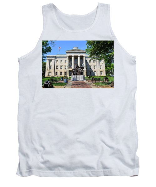 North Carolina State Capitol Building With Statue Tank Top