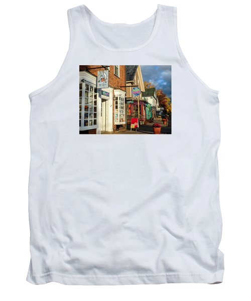 Tank Top featuring the photograph North Conway Village 2 by Nancy De Flon