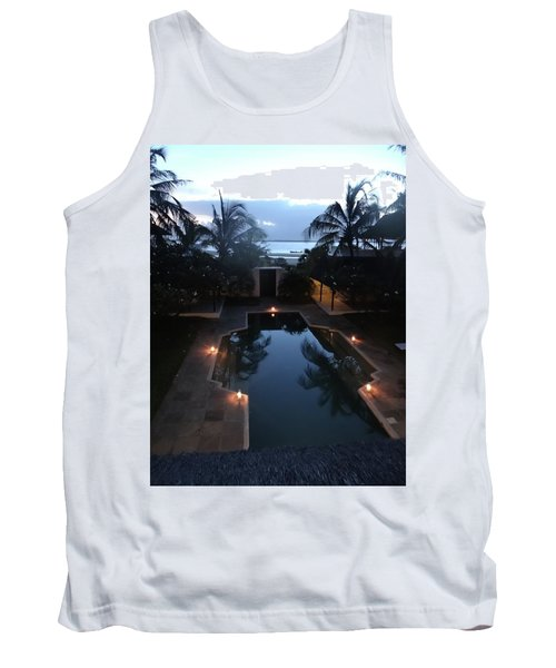 North - Eastern African Home - Sundown Over The Swimming Pool Tank Top