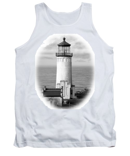 North Head Lighthouse Black And White Photograph Tank Top