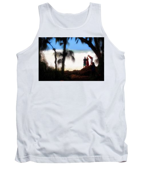 Tank Top featuring the photograph North Shore Wave Spotting by Jim Albritton