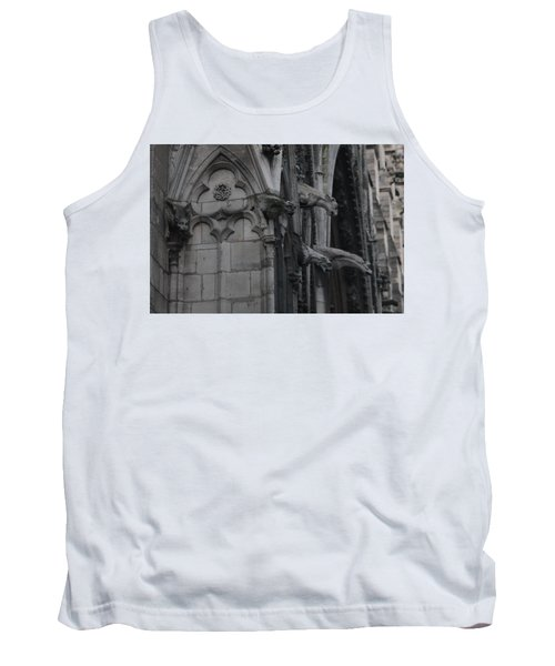 North Side Notre Dame Cathedral Tank Top by Christopher Kirby