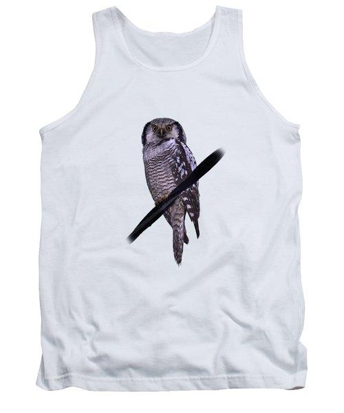 Northern Hawk-owl Transparent Tank Top