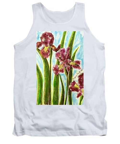 Nostalgic Irises Tank Top