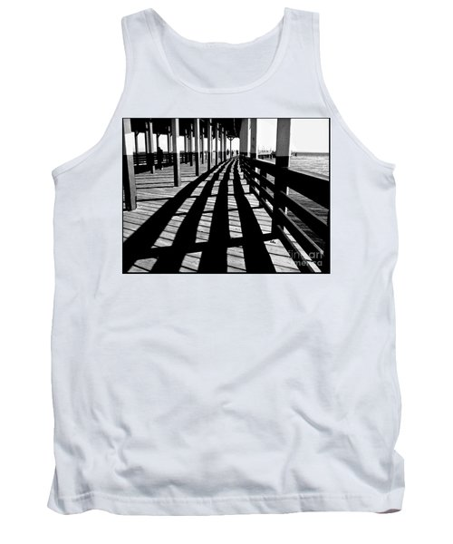 Nostalgic Walk On The Pier Tank Top