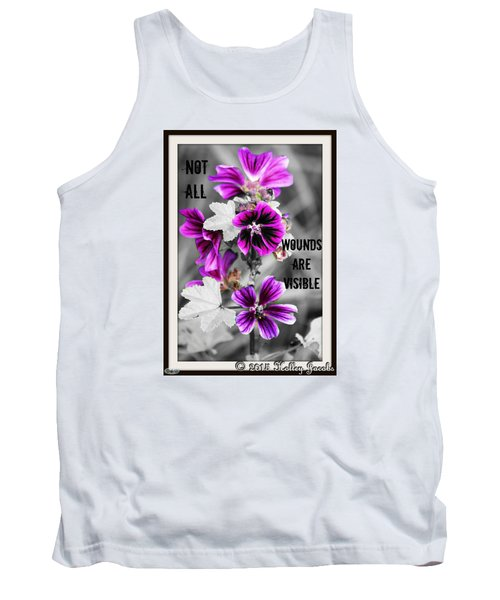Tank Top featuring the digital art Not All Wounds by Holley Jacobs