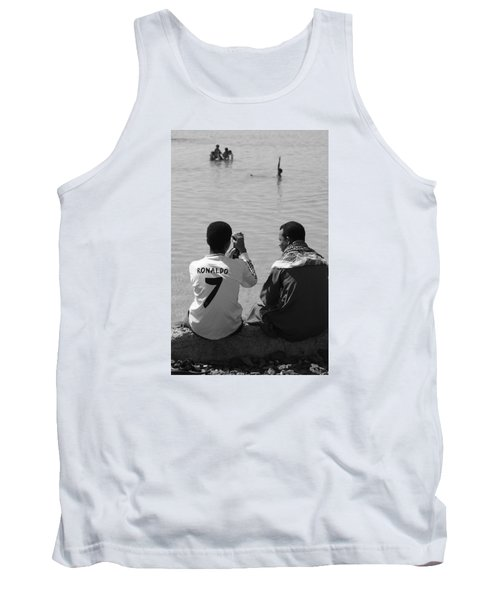 Tank Top featuring the photograph Not Waving But Drowning by Jez C Self