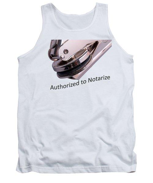 Notary Public Slogan Tank Top