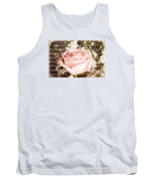 Notes Of Love Tank Top by Joan Bertucci