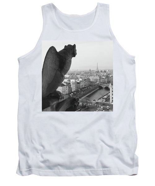 Tank Top featuring the photograph Notre Dame Gargoyle by Victoria Lakes