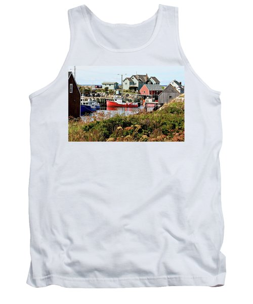 Tank Top featuring the photograph Nova Scotia Fishing Community by Jerry Battle