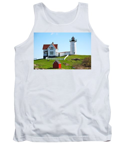 Nubble Lighthouse Tank Top by Eric Tressler