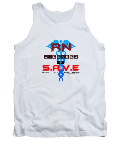 Nurses Licensed To Save Tank Top