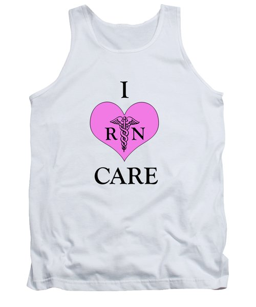 Nursing I Care -  Pink Tank Top