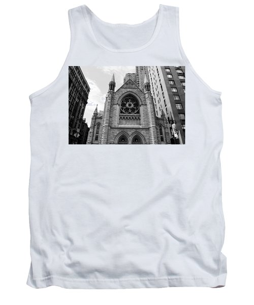 Nyc Holy Trinity Church - Black And White Tank Top