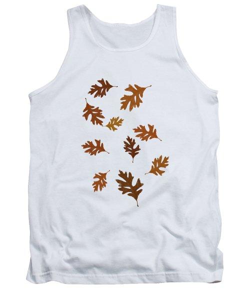 Oak Leaves Art Tank Top by Christina Rollo