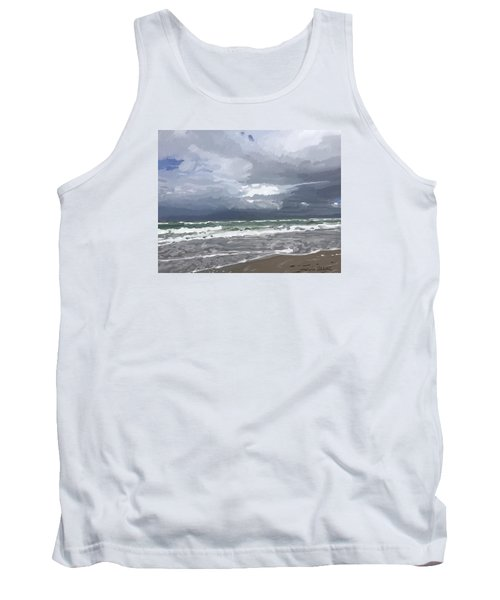 Ocean And Clouds Over Beach At Hobe Sound Tank Top