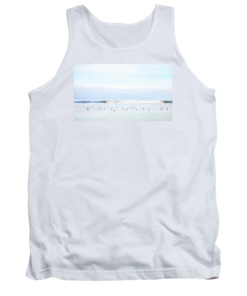 Tank Top featuring the photograph Ocean View With Seagulls by Theresa Tahara