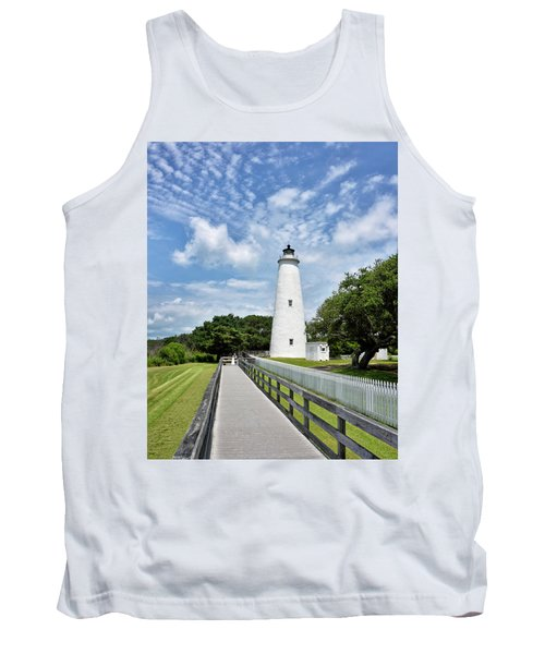 Ocracoke Lighthouse - Outer Banks Tank Top