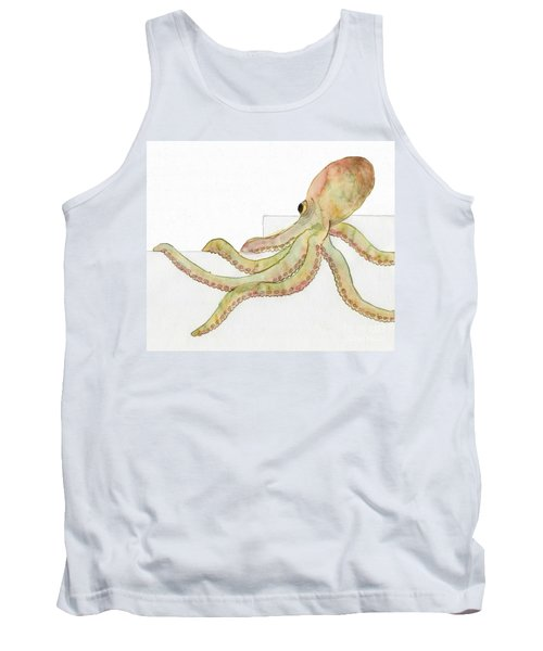 Tank Top featuring the painting Octopus by Annemeet Hasidi- van der Leij
