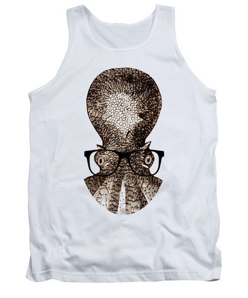 Tank Top featuring the drawing Octopus Head by Frank Tschakert