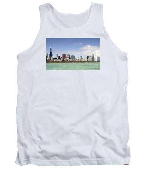 Off The Shore Of Chicago Tank Top by Ricky L Jones