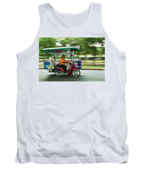 Tank Top featuring the photograph Off To Work by Dan McGeorge