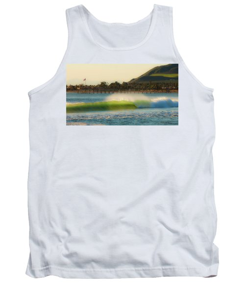 Tank Top featuring the photograph Offshore Wind Wave And Ventura, Ca Pier by John A Rodriguez